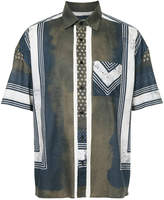 Yoshio Kubo Yoshiokubo Shibori print short sleeve shirt