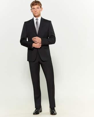Versace Two-Piece Dark Grey Wool Pinstripe Suit