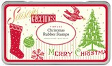 Cavallini & Co. Rubber Stamps Christmas, Assorted with Ink Pad