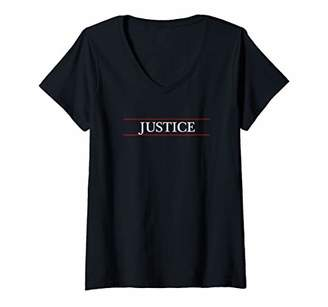 Justice Womens Top That Says the Word Cute | V-Neck T-Shirt
