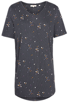 Fat Face Liza Daisy Dot Longline Top, Grey/Multi