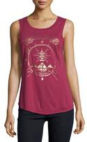 Spiritual Gangster Sky Above Me Logo Muscle Tank Top, Red