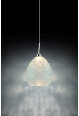 Bruck Lighting Vibe 1 - Light Single Dome LED Pendant Color: Chrome, Shade Color: Glacier