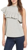 BP Women's Asymmetrical Ruffle Tee