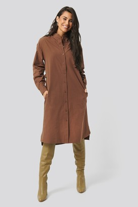 NA-KD Adjustable Side Strap Shirt Dress