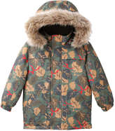 Joe Fresh Toddler Boys' Leaf Print Parka, Olive (Size 2)