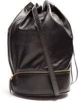 F.E.V. BY FRANCESCA E. VERSACE Almond self-stowing leather bucket bag