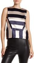 English Factory Sleeveless Striped Blouse