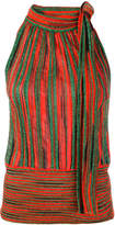Missoni striped glitter halter top