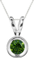JCPenney FINE JEWELRY 1/2 CT. T.W. Color-Enhanced Green Diamond Solitaire Pendant Necklace