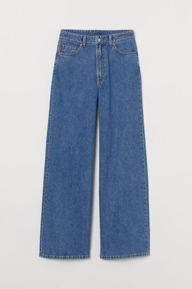 H&M Wide High Jeans - Blue