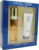 Elizabeth Taylor DIAMONDS & SAPPHIRES by Gift Set for WOMEN: EDT SPRAY 3.3 OZ & BODY LOTION 3.3 OZ