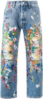 Palm Angels distressed painted jeans