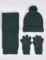 Marks and Spencer Kids' Hat, Scarf & Gloves Set