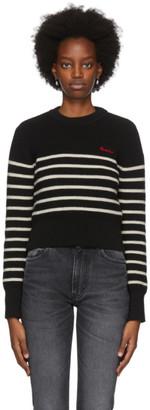 Ami Alexandre Mattiussi Black and White Breton Stripe Sweater
