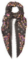 Givenchy Floral-print fine-knit scarf