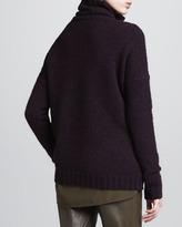 Vince Rib-Trim Knit Turtleneck, Mulberry