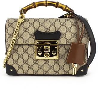 Gucci Padlock Gg Bamboo Shoulder Bag