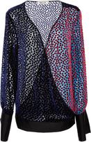 Diane von Furstenberg Long Sleeve V-Neck Velvet Top
