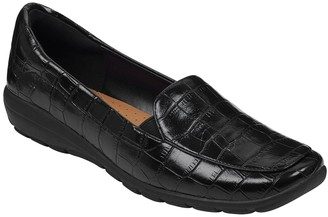 Easy Spirit Abriana Croc Embossed Faux Leather Loafer - Wide Width Available