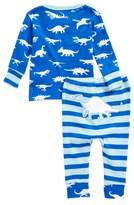 Hatley Dinosaur Menagerie Organic Cotton Two-Piece Fitted Pajamas