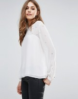 French Connection Arctic Spell Mesh Blouse