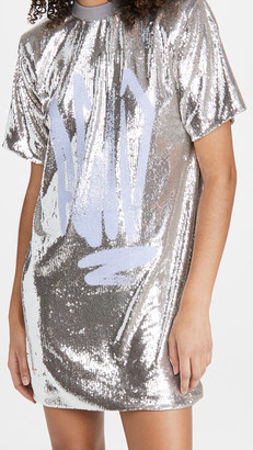 Off-White Paillettes Tee Dress