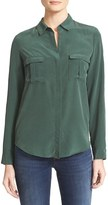 L'Agence Women's Valerie Safari Pocket Silk Blouse