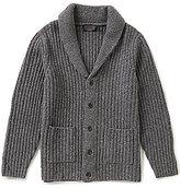 Pendleton Long-Sleeve Donegal Shawl Collar Cardigan