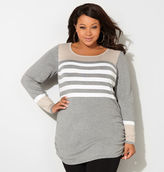 Avenue Colorblock Striped Sweater