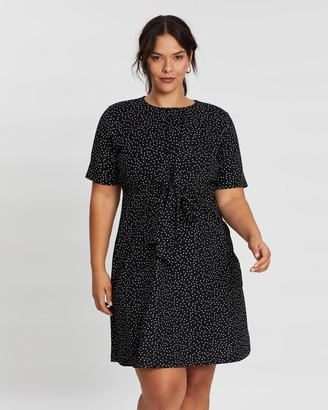 Atmos & Here Print Tie Front Dress