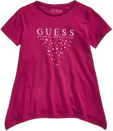 GUESS Glitter-Print Logo Cotton T-Shirt, Big Girls (7-16)