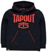 Tapout Kids Splatter OTH Hoodie Hoody Hooded Top Junior Boys Long Sleeve Casual