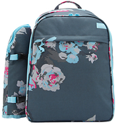 Joules Grey Floral Filled Rucksack, 4 Person