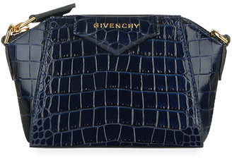 Givenchy Antigona Nano Crocodile-Embossed Satchel Bag