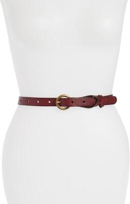 Frye Flat Panel Skinny Leather Belt