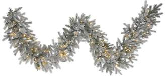 """Vickerman 9'x14"""" Frosted Sable Pine Garland, Clear Lights"""