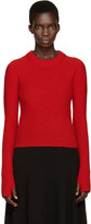 Lemaire Red Wool Short Sweater