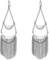 Lucky Brand Silver Fringe Earrings
