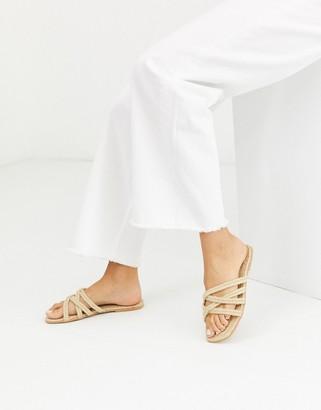ASOS DESIGN Jazzie espadrille flat sandals in natural