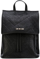 Love Moschino embossed logo bag backpack