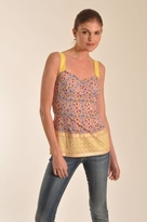 Plenty by Tracy Reese Border Cami Top in Circle Foulard