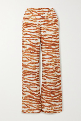 Cult Gaia Stacie Printed Jersey Wide-leg Pants - Brown