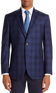 Jack Victor Tonal Plaid Regular Fit Sport Coat