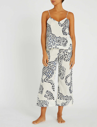 Desmond & Dempsey Floral cotton pyjama top