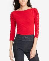 Lauren Ralph Lauren Petite Lace-Up Shirt