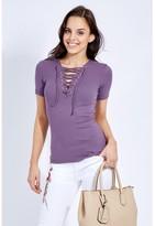 Select Fashion Fashion Lattice Crop T-Shirt T-Shirts - size 6