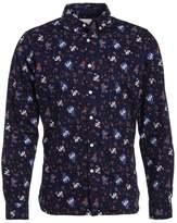Knowledge Cotton Apparel Flower Shirt Peacoat