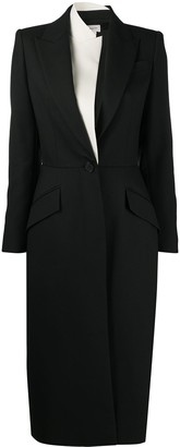 Alexander McQueen Double-Lapel Single-Breasted Coat