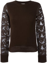 See by Chloe lace-sleeve sweater - women - Cotton - XS